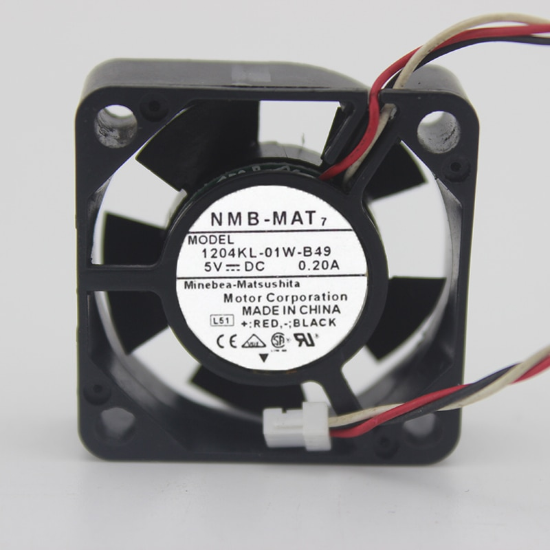 3CM3 cm portátil Disco Duro fan 3010 5V 0.20A 1204KL-01W-B49