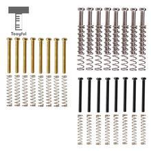 Tooyful Paquete de 8 Humbucker de Metal captación de bobina doble marco tornillos muelles 3mm para piezas de repuesto de guitarra eléctrica