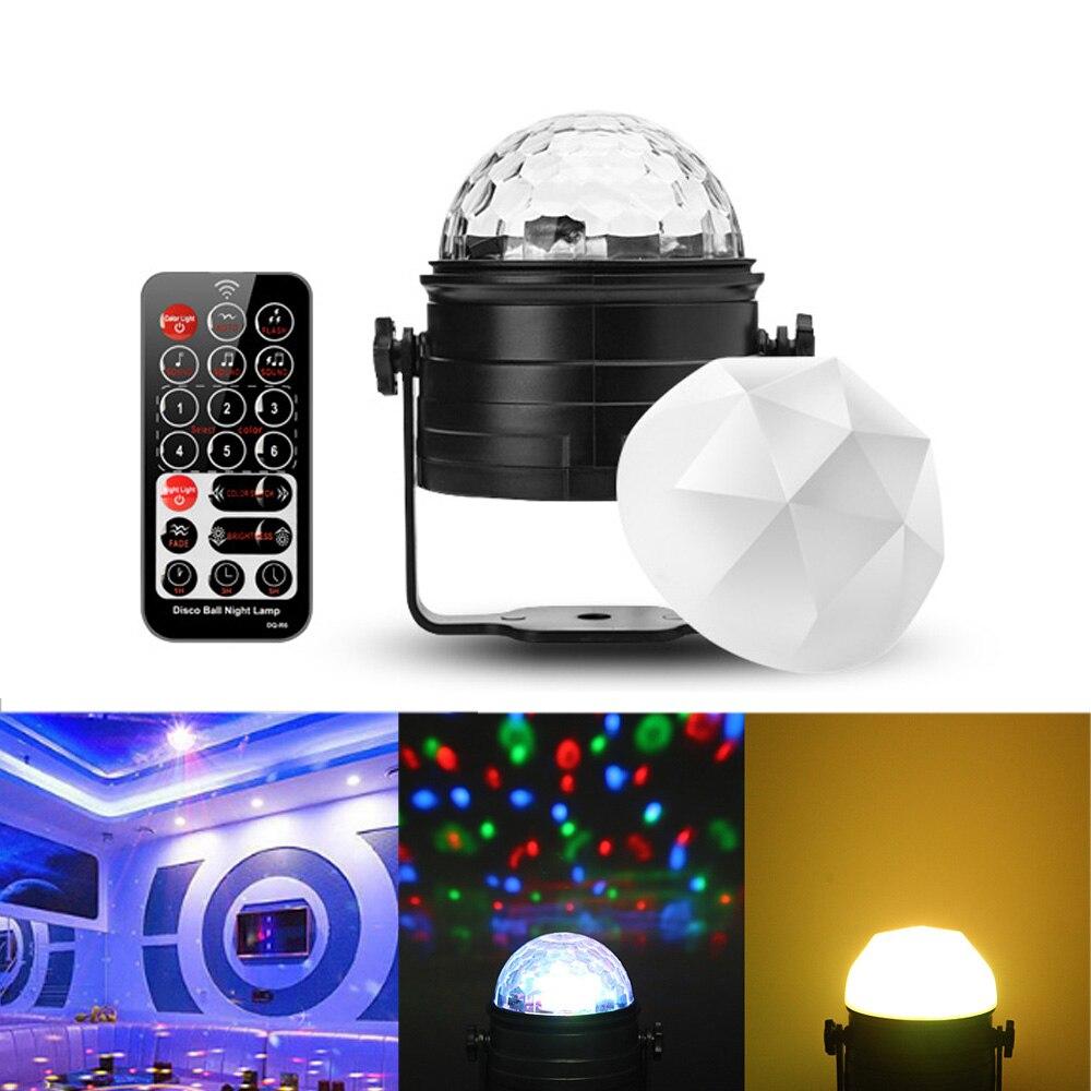 Controle remoto LEVOU colorido energy-saving night light decoração RGB Strobe lâmpada ritmo da música do DJ layout da sala do quarto estrela luzes