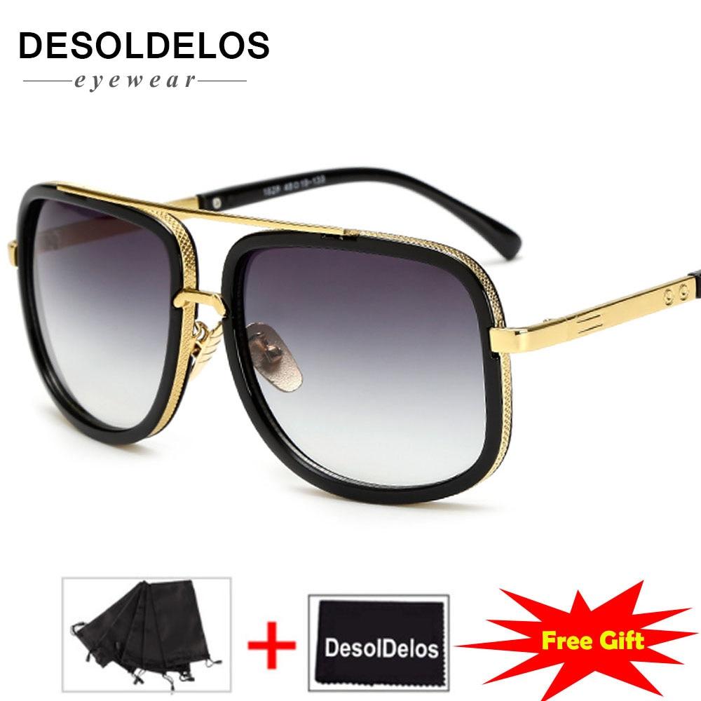 Большие мужские солнцезащитные очки, мужские роскошные Брендовые женские мужские солнцезащитные очки, квадратные мужские солнцезащитные ...