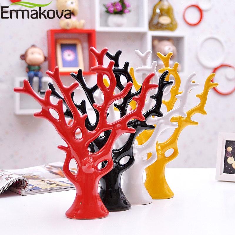 ERMAKOVA de dinero de cerámica árbol estatuilla moderno ornamentos para regalo de bodas a casa de decoración