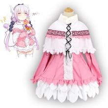 Robe chemise Kamui Kanna de femme de chambre Dragon de mlle Kobayashi uniforme tenue Anime Meidofuku Costumes Cosplay