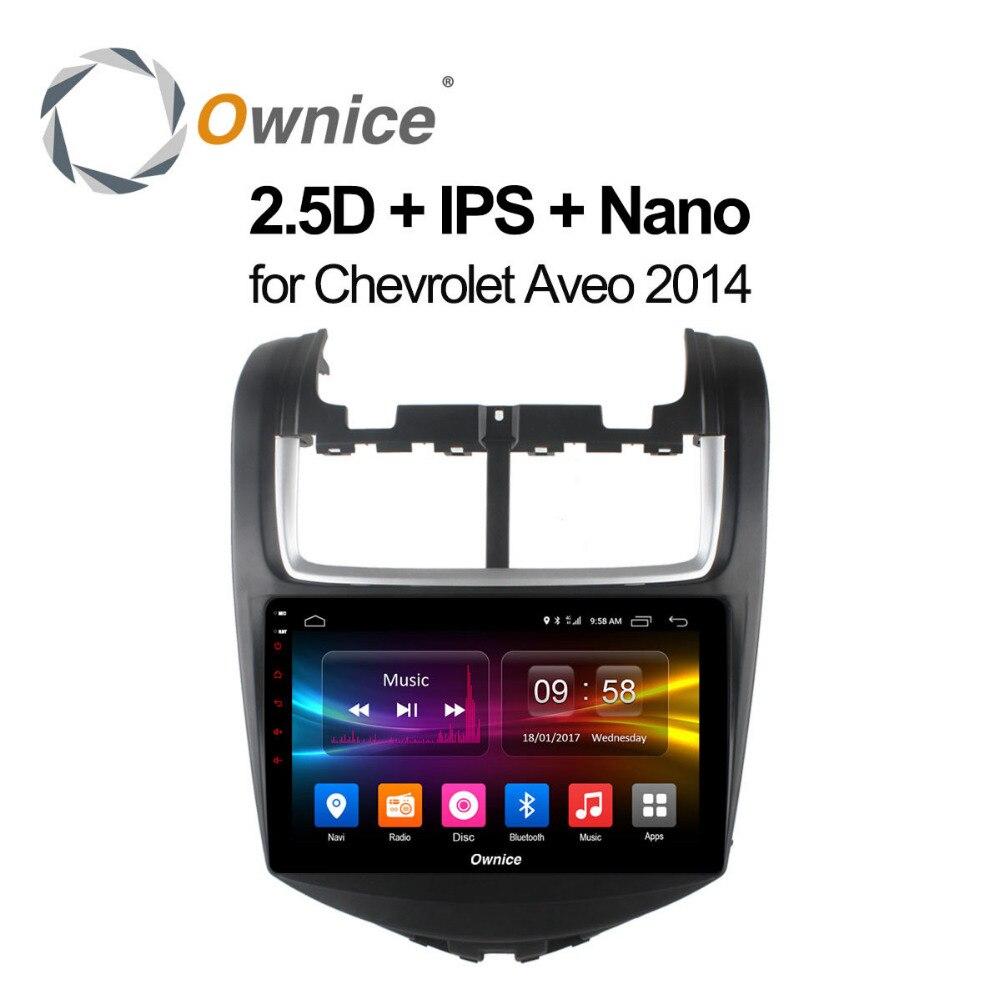 Ownice c500 + Android 8.1 dla Chevrolet Aveo 2011 samochodowy odtwarzacz DVD odtwarzacz 8 core 2GB pamięci RAM 4G LTE WIFI BT Radio samochodowe z GPS kamera TPMS OBD2 telewizor z dostępem do kanałów