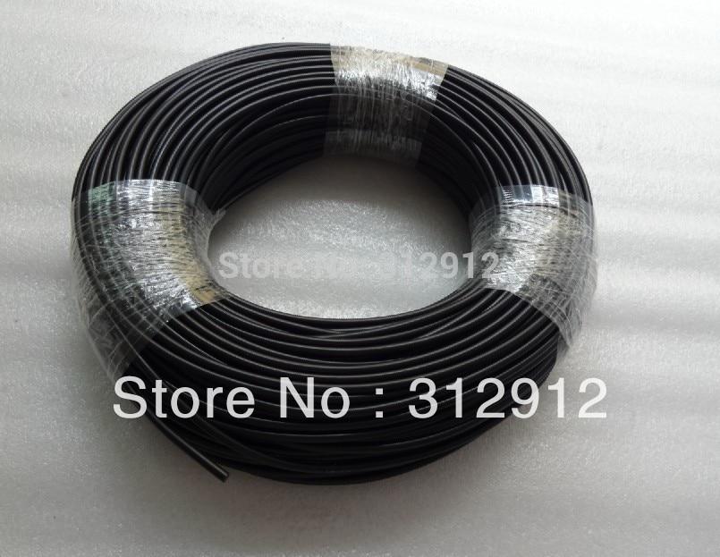 E-pof-3;100m Solid Core black PVC coating PMMA optical fiber,inne diameter:3mm,outer diameter:4.5mm