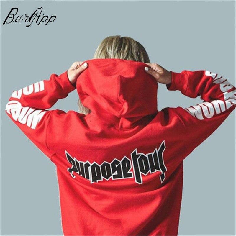 2019 Justin Bieber Purpose Tour Print Hoodie Men Hip hop Streetwear Fleece Cotton Pullover Women Winter brand fashion Sweathirt