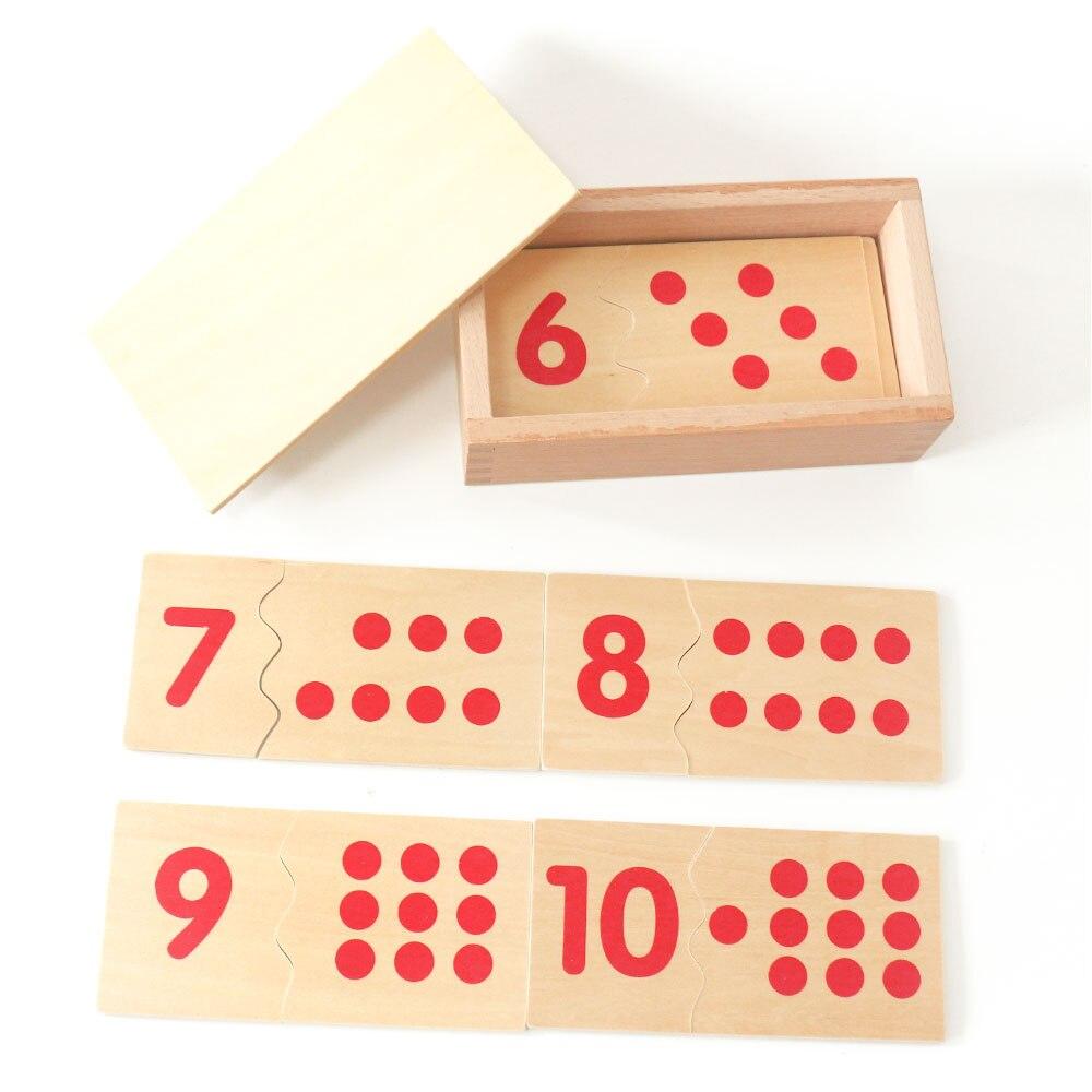 Montessori materiales número coincidencia Junta Juguetes de madera didácticos y educativos para niños Juguetes de Montessori E2464H