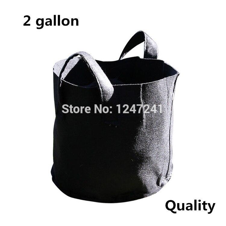 Bolsa de cultivo inteligente de 2 galones, 5 unidades por lote, macetas de raíz, contenedor de plantas redondas de tela, 21cm x 18cm, organización hidropónica de aireación