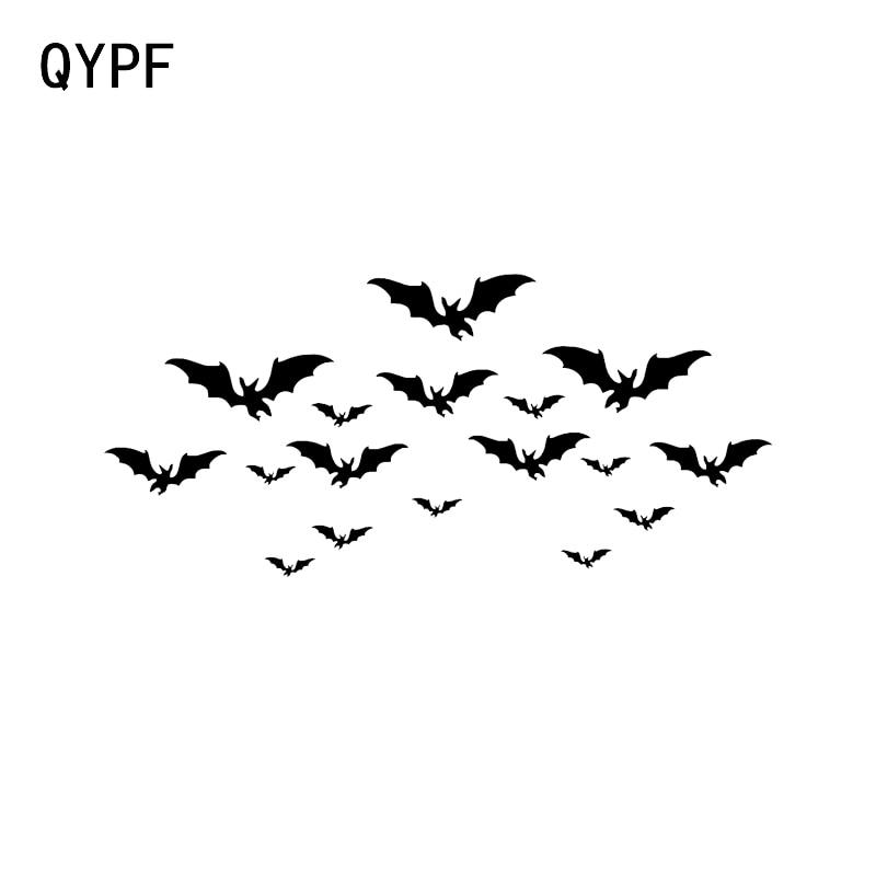 QYPF 19.6*8.9 Interesting Bats Halloween Decor Car Sticker Vinyl Accessories C16-2324