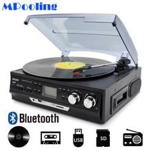 MPOOLING Bluetooth виниловый проигрыватель 3 скоростной Ленточный привод проигрыватель кассетный плеер MP3 плеер USB рекордер AC110V ~ 130 V/220 ~ 240V