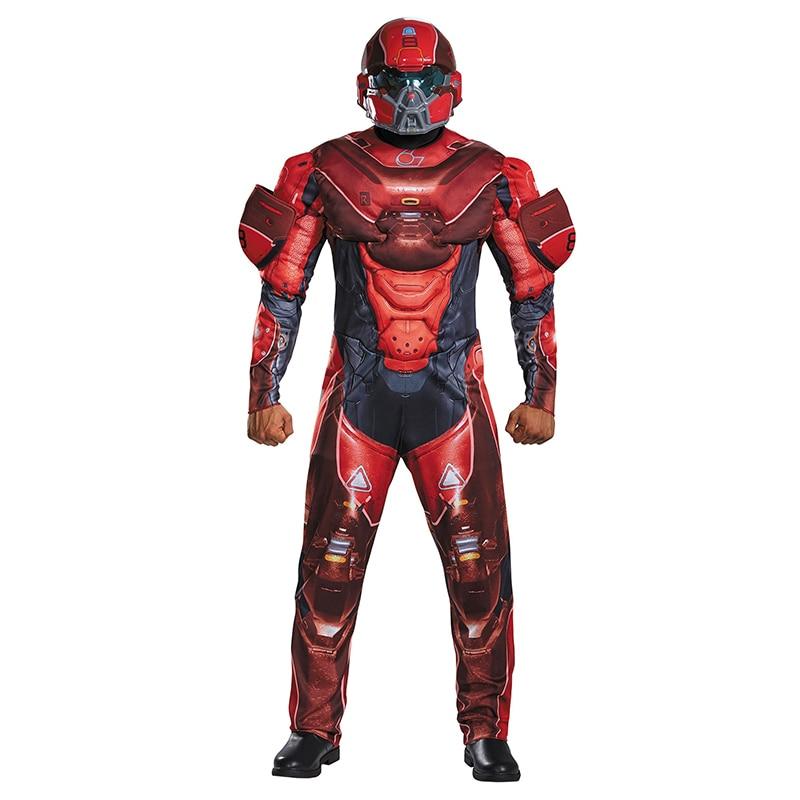 Костюм для взрослых Red Spartan, костюм для косплея, костюм для Хэллоуина
