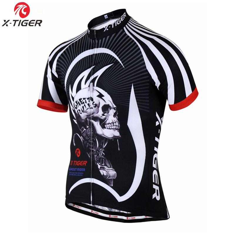 X-TIGER 2020 crânio respirável camisa de ciclismo verão mtb bicicleta roupas respirável mountain bike roupas ciclismo