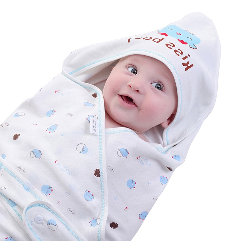 Saco de dormir de algodón para bebé, saco de dormir para recién nacido