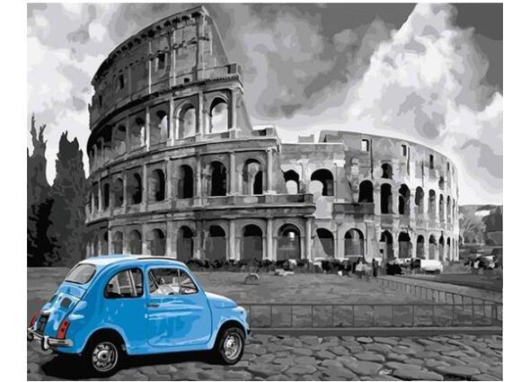 21120B & W Italy Coliseum-Kits de pintura por números para adultos DIY