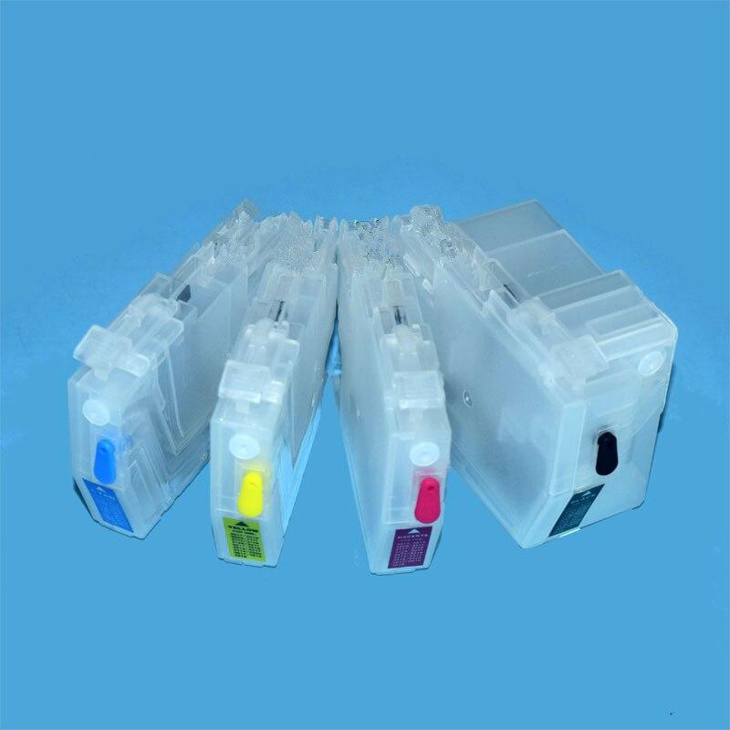 Largo o corto LC3617 LC3619 LC3717 LC3719 cartucho de tinta rellenable para Hermano MFC-J2330 J2730 J3530 J3930 impresora sin Chip