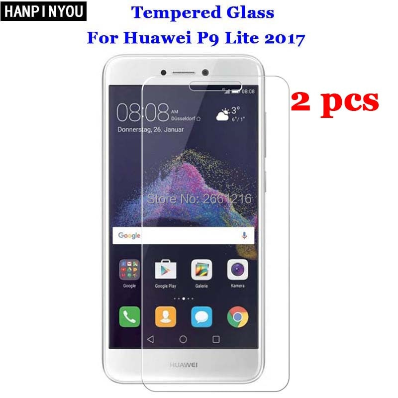 2 Pcs/Lot For Huawei P9 Lite 2017 Tempered Glass 9H 2.5D Premium Screen Protector Film For Huawei P9