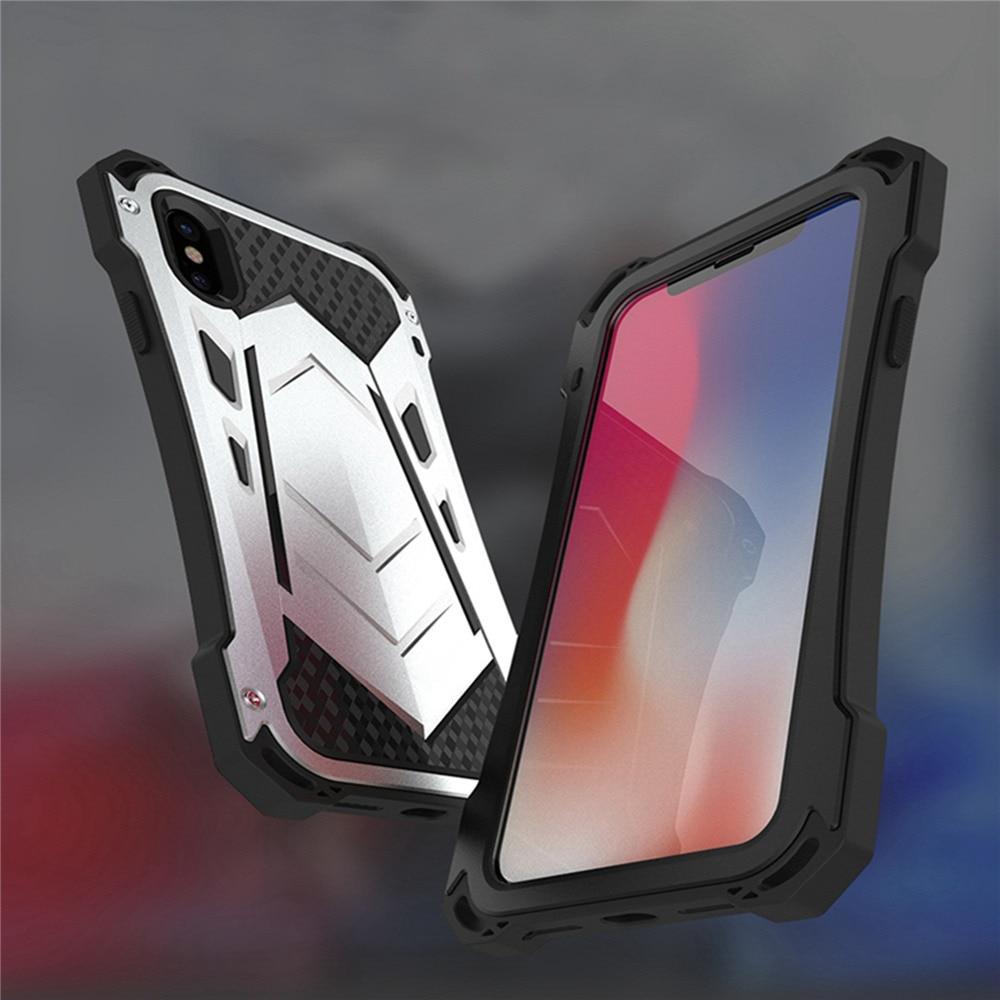 Armadura funda para iPhone X/7/7 plus de aluminio Marco de aleación de TPU bandeja protector de pantalla para iPhone 8/8 plus teléfonos parachoques manga