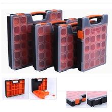Caja de componentes de caja de herramientas práctica caja de almacenamiento de tornillos de plástico ABS Caja de Herramientas destornillador accesorios de Hardware caja de herramientas con bloqueo