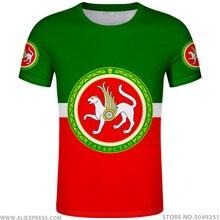 TATARSTAN chemise gratuit fait sur commande nom numéro Kazan t-shirt drapeau mot russe russie imprimer Almetyevsk Naberezhnye Chelny vêtements