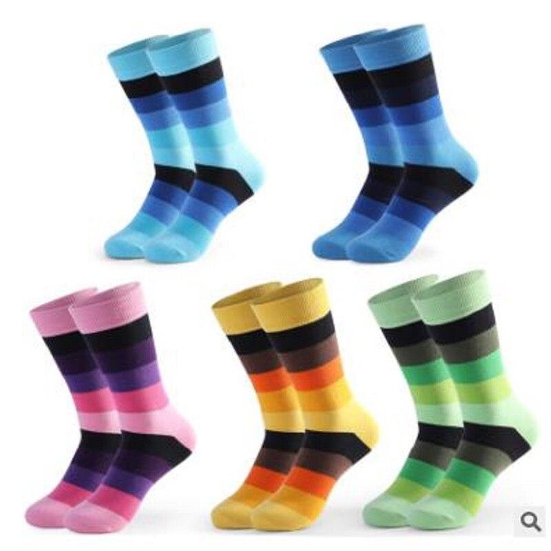 10 pçs = 5 pares 42.43.44, 45, 46, 47,48 ue mais tamanho longo perna meias de negócios tripulação