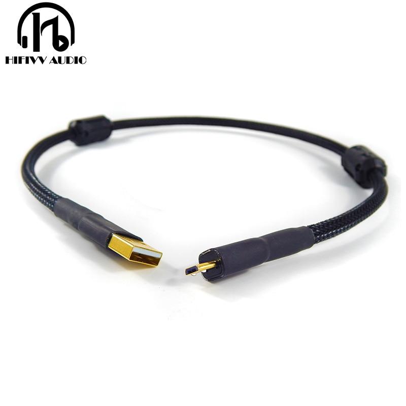 Cable usb de alta fidelidad de línea de USB OTG doble anillo magnético amplificador chapado en oro DAC cable USB A micro USB