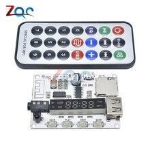 Bluetooth MP3 Decoder Board Decoding Player Module FM Radio USB TF Micro SD LCD Screen IR Infrared Remote Controller LED Digital