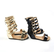 toddler girls sandals sandalias kids leather sandals baby Flat Heels shoes Non-slip Roman sandal for children girl summer shoes