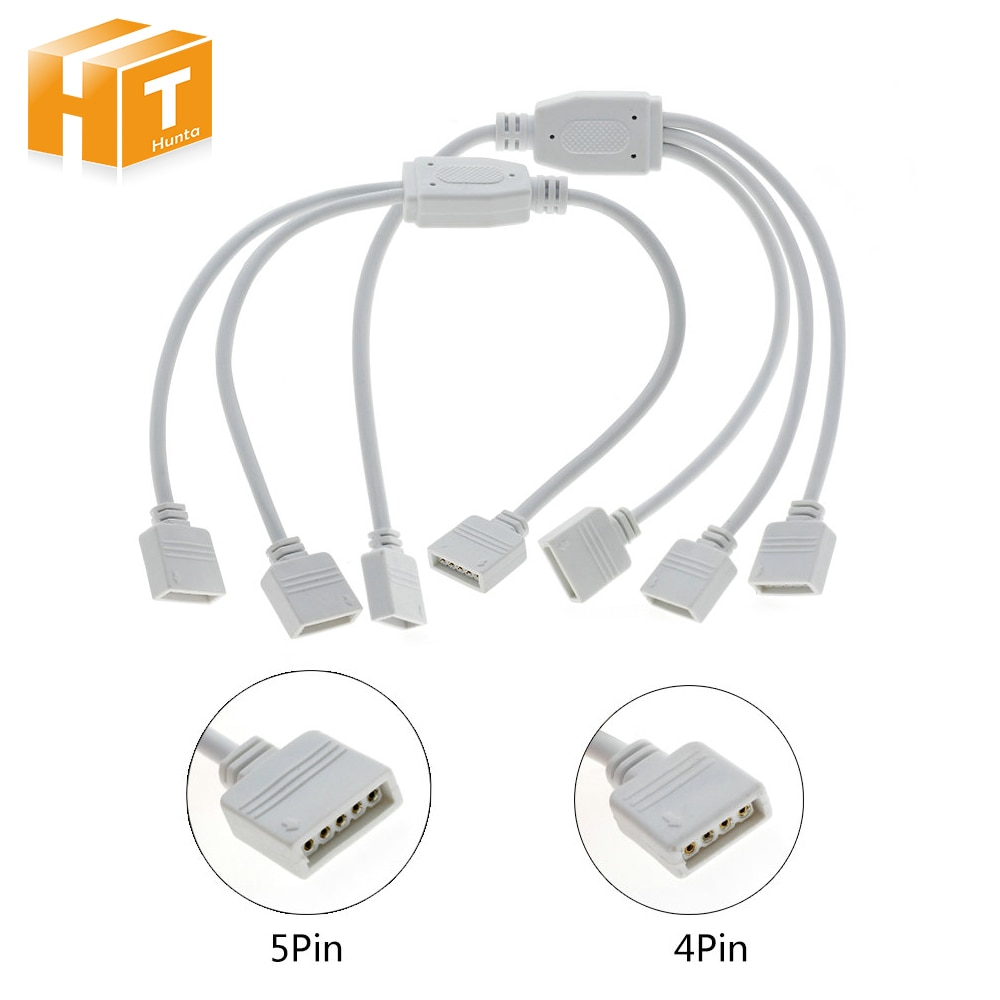 4pin 5pin хаб от 1 до 3/1 до 2 RGB RGBW разъем светодиодной ленты.