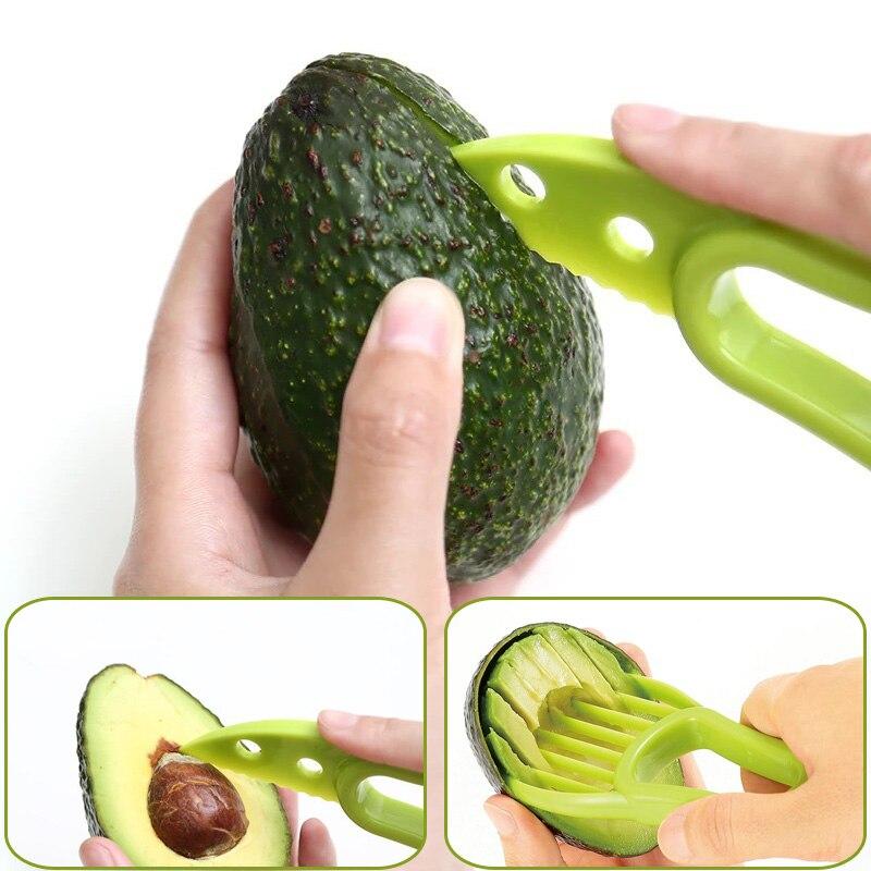 1 шт. 3 в 1 для ломтерезки авокадо карите масло для фруктов Овощечистка резак целлюлоза пластиковый нож кухонные овощные инструменты домашний аксессуар
