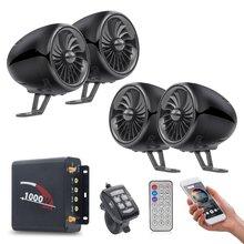 4 kanaals Audio systeem Motorfiets Bluetooth Speakers Motorbike Stereo Geluid ATV UTV Speaker FM Lcd-scherm