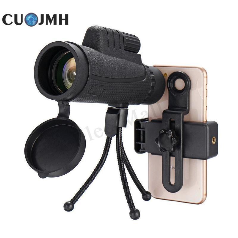 40x зум монокулярный телескоп для мобильного телефона Lense 40x60 для смартфонов Iphone Huawei Xiaomi объектив для камеры для охоты на открытом воздухе