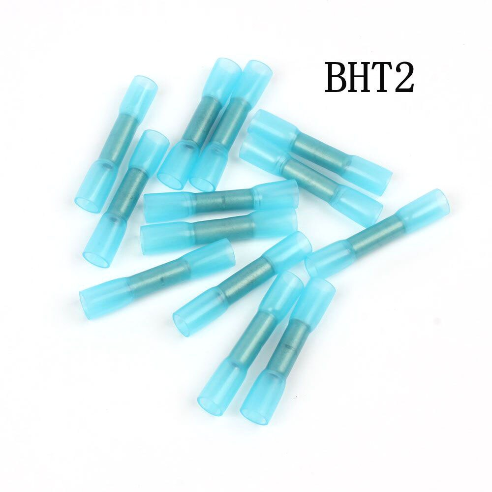 Nuevo 20 piezas BHT2 termoretráctil impermeable medio conector terminal nylon latón terminal BHT trinquete alicate