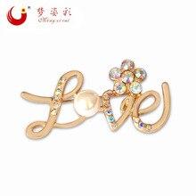 MZC, broche romántico de perlas grandes de amor, Broches de cristal austriaco de Anime para mujer, traje de mujer, abrigo, vestido, Broches, prendedores de solapa para boda