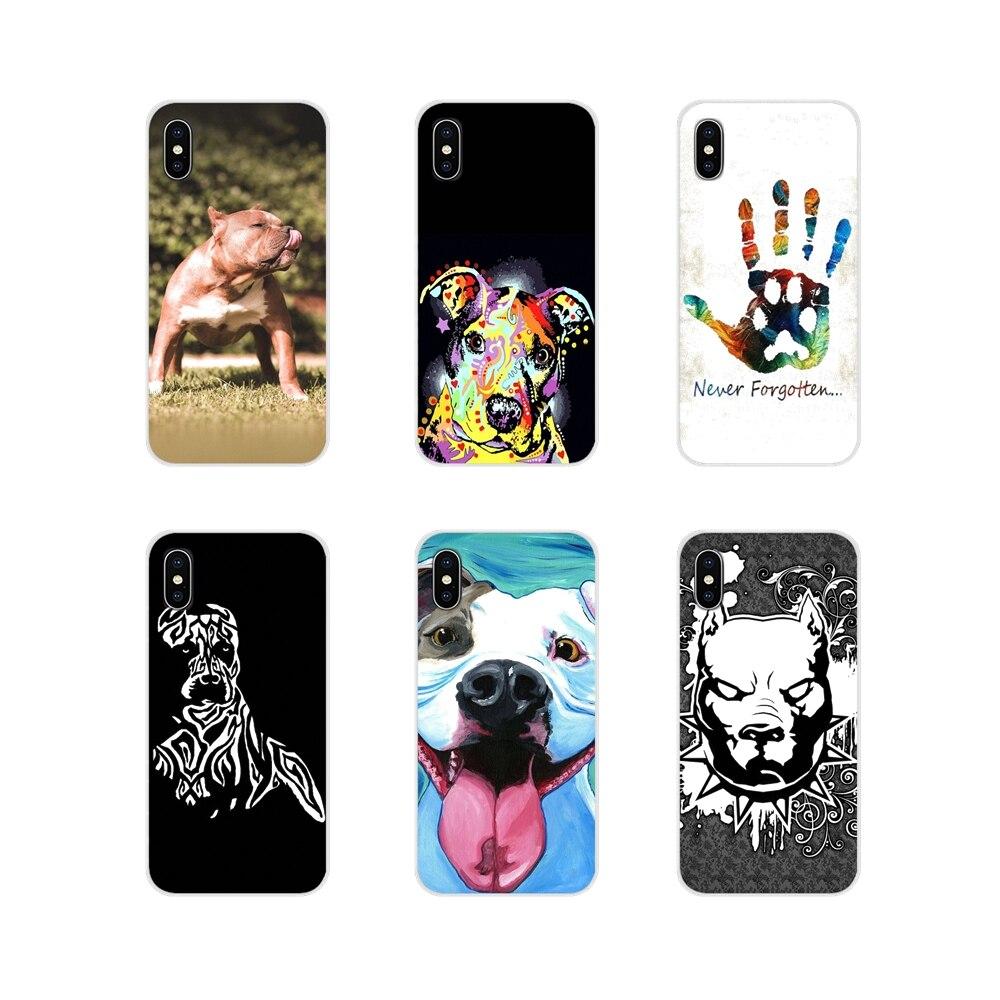 Para Motorola Moto X4 E4 E5 G5 G5S G6 Z Z2 Z3 G3 G2 C Jogo Mais TPU Transparente Saco caso Pastel Filhote de Cachorro Pitbull Cães Padrão Animal