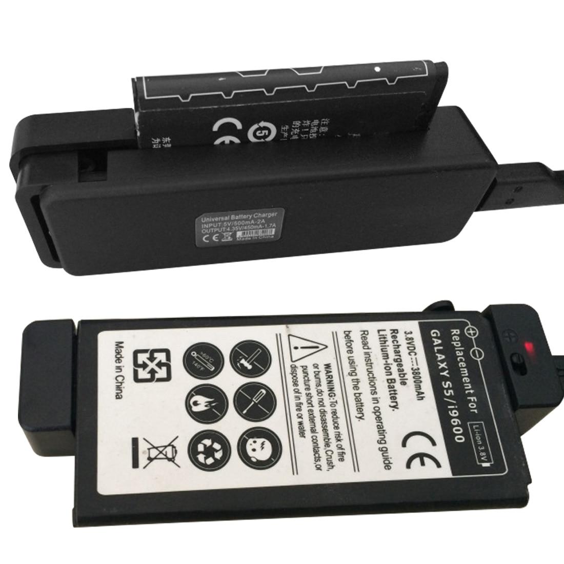 Universal indicador de carregador de bateria externa alta qualidade para samsung s5 smartphone adaptador de carregamento proteção de circuito
