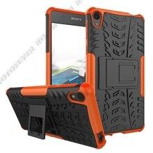 Coque de Style armure 2 en 1 pour Sony Xperia E5 L2 L2 L3 Coque arrière robuste PC dur + Silicone souple Fundas pour F3311, F3313. ..