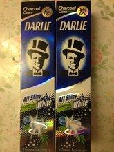 Gratuit, livraison 4 paquets de Darlie charbon de bois tout brillant dentifrice blanchissant 150g