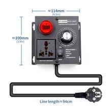AB Tak AC 220 V 4000 W SCR Elektronik Voltaj Regülatörü Sıcaklık Motor fan hız kontrolörü Dimmer elektrikli alet pil paketi Ayarlanabilir