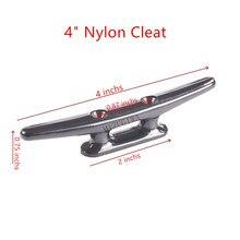 "Nylon Klampe 4 "", 6-1/2 ""meer-Hund Marine Dock Hohl Anker Flach Top 2 Loch Offene Basis Boot Klampe Montieren kajak Kanu Deck Boot Seil"