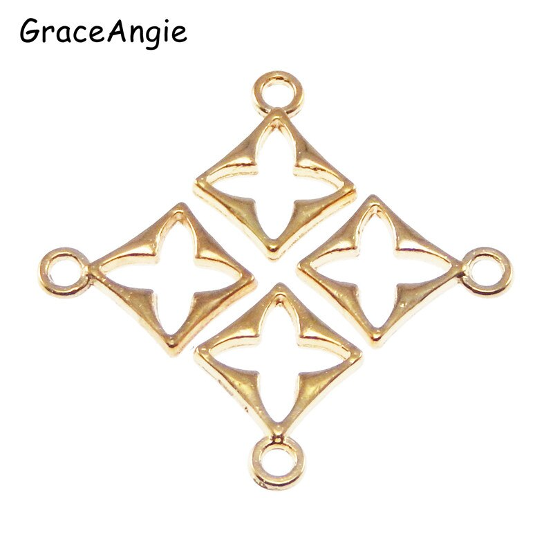 20 teile/paket Gold Legierung Kreuz Charme Halskette Anhänger Modeschmuck Handgemachte Armband Charms Dezember Handwerk 11*2*15mm 39730