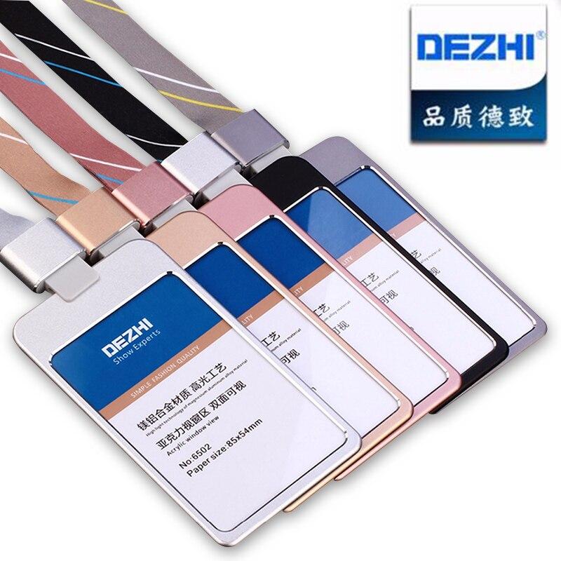 Suministros de oficina Material de Metal de lujo titular de la tarjeta de visita, funda para tarjeta de identificación de crédito con exquisito Logotipo de cordón personalizado
