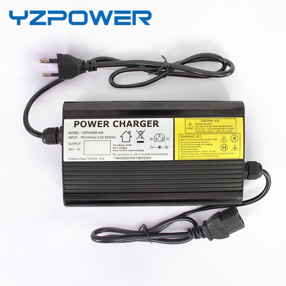 YZPOWER Auto-Stop 58.8V 5A Lithium Battery Charger For 48V Li-Ion Lipo Battery Pack Ebike E-bike Smart Tools