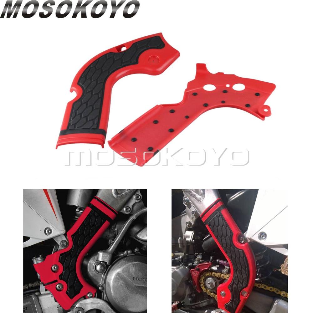 Motocross Dirt Bike Red Frame Guard for Honda CRF250R CRF450R CRF 250 450 R 2013-2016 Protector Guard