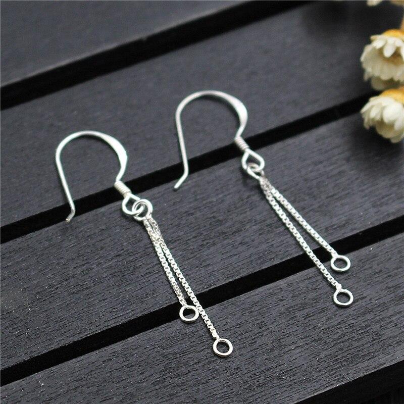 1 пара модных серег из 100% стерлингового серебра 925 пробы, крючки для серег, коннекторы для серег с кисточками, сделай сам, модные украшения