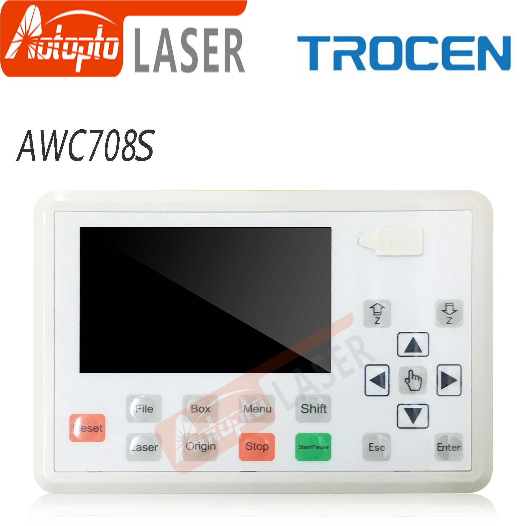 Trocen AWC708S Co2 Laser Controller System for Laser Engraving and Cutting Machine Replace AWC708C Lite Ruida Leetro