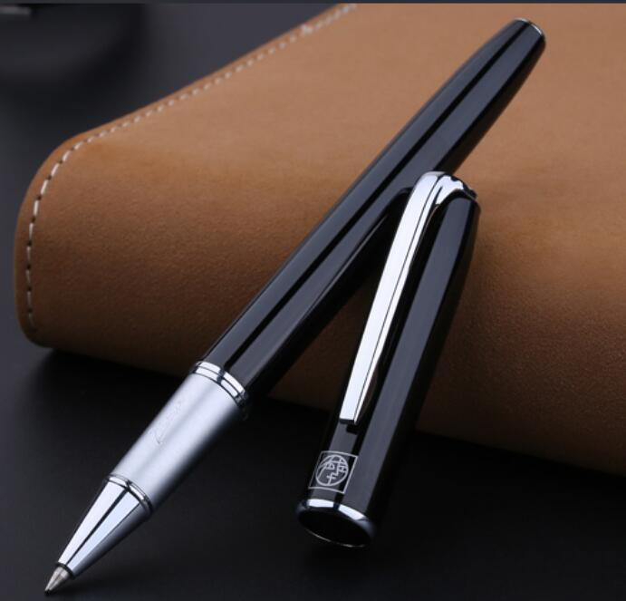 Silver Clip Black Rollerball Pens Luxury Pimio 916 Good Writing Sign Pens with an Original Box School Supplies Gift Stationery
