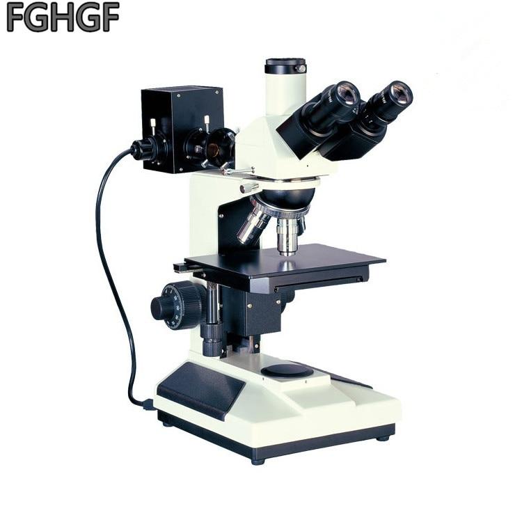 FGHGF MZG-230 microscopio metalográfico 600X microscopio Mineral de Metal 50X-100X-400X Chip LCD Semiconductor luz reflejada