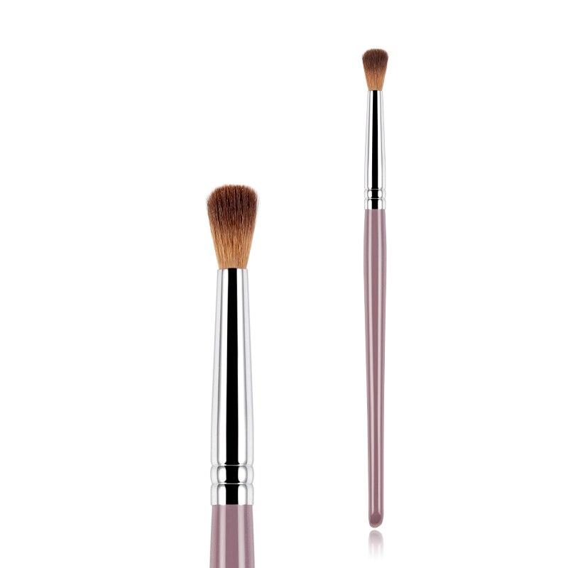 Anmor 1 Uds brochas de maquillaje sombra de ojos brocha de maquillaje de mezcla cónica calidad Pony ceja pelo sintético limpiador herramienta cosmética