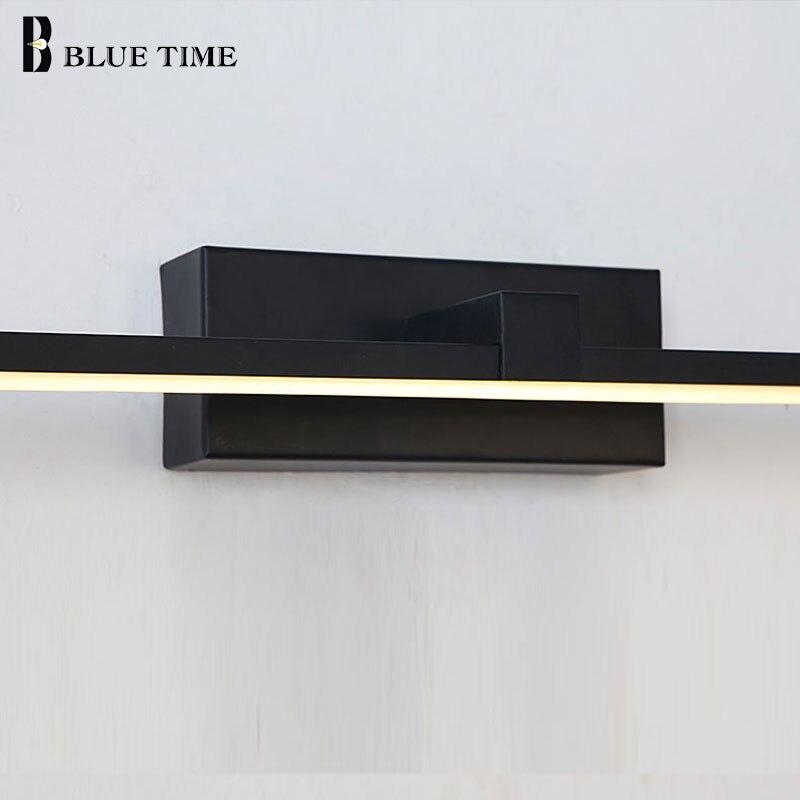 Купить с кэшбэком Wall Sconce Led Wall Lights Black&White Color Bathrroom Lamp Home Light Fixtures Modern Wall Light Large L100 80 60 40cm Lustres