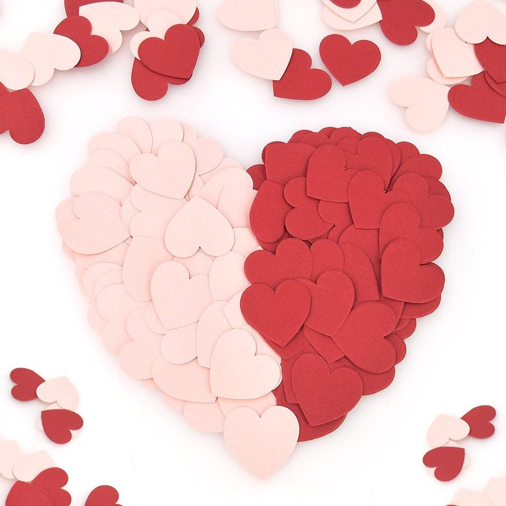 100 Uds 3cm estrella corazón punto Mesa papel picado Baby Shower decoración de la boda Rosa negro plata oro confeti papel artesanías.