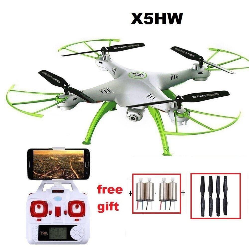 YUKALA X5HW FPV RC Quadcopter Drone con cámara WIFI RC Quadcopter con cámara FPV Tiempo Real helicóptero RC Quad copter juguetes